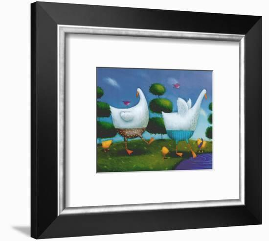 Like Ducks to Water-Rob Scotton-Framed Art Print