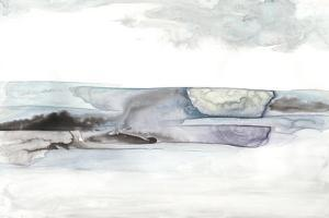 Organic Seascape Blue II by Lila Bramma