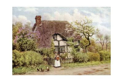 Lilac and Apple Blossoms, Harvington, Worcester-Alfred Robert Quinton-Giclee Print