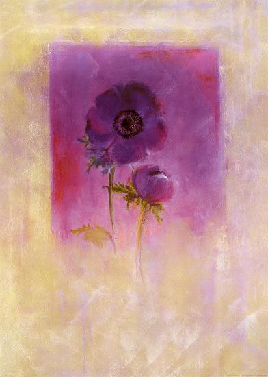 Lilac Anemone-Matilda Ellison-Art Print