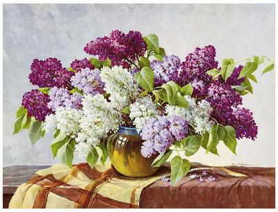 Lilac-E^ Kruger-Art Print