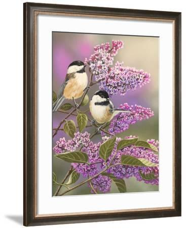 Lilacs and Chickadees-William Vanderdasson-Framed Giclee Print