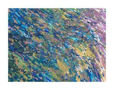Lilacs Reflecting on a Waterfall-Margaret Juul-Art Print