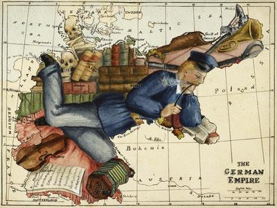 Shows the German Empire As a Young Man Lounging Across Europe.