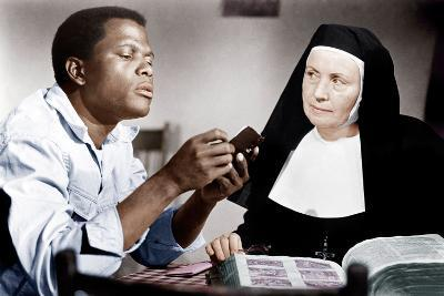 LILIES OF THE FIELD, from left: Sidney Poitier, Lilia Skala, 1963--Photo