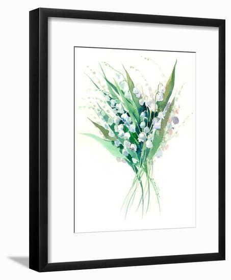 Lilies Of The Valley Suren 1-Suren Nersisyan-Framed Art Print