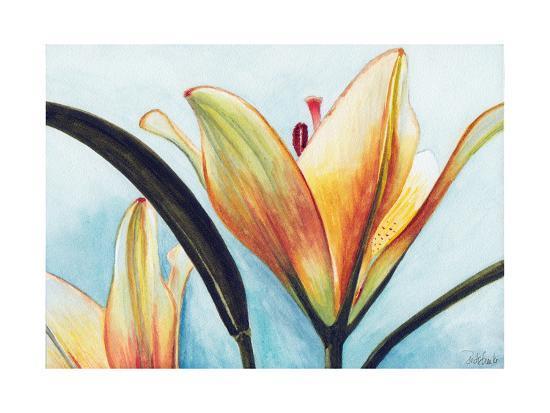 Lilies-Jennifer Redstreake Geary-Art Print