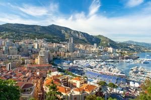 View of Monaco Harbor Prepared for Formula 1 Grand Prix De Monaco by LiliGraphie