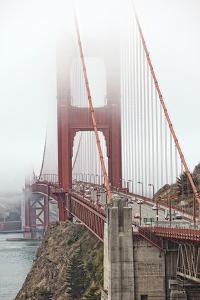 Golden Gate Bridge in Fog by Lillis Werder