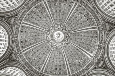 US Capitol Rotunda Black and White
