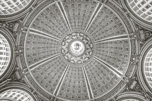 US Capitol Rotunda Black and White by Lillis Werder