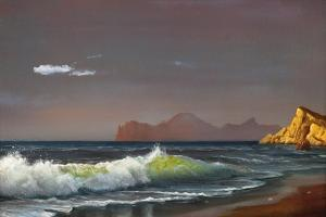 Oil Painting On Canvas , Background Of Sea Sunset by Lilun
