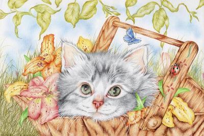 Lily Basket-Karen Middleton-Giclee Print