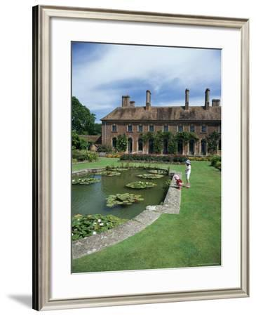 Lily Gardens and Strode House, Barrington Court, Somerset, England, United Kingdom-Chris Nicholson-Framed Photographic Print