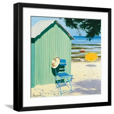 Lime Beach Shack-Henri Deuil-Framed Art Print