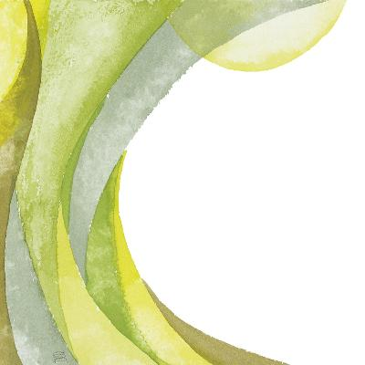 Lime Geometric I-Chris Paschke-Premium Giclee Print