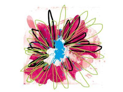 Lime Spash Flower-Elle Stewart-Art Print