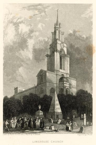 Limehouse Church; St Anne's Church, Limehouse, London-Hablot Knight Browne-Giclee Print