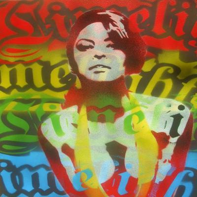 Limelight Woman-Abstract Graffiti-Giclee Print