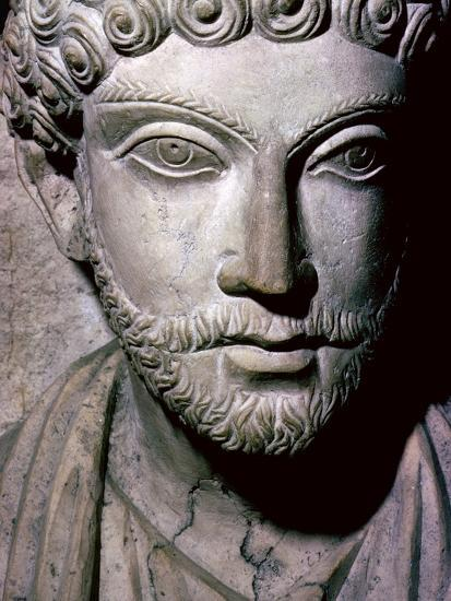 Limestone bust of Hairan, son of Marion from Palmyra, Syria, c150-200. Artist: Unknown-Unknown-Giclee Print