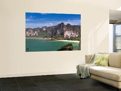 Limestone Cliffs and West Rai Leh Beach, Laem Phra Nang Peninsula, Krabi Province, Thailand-Michele Falzone-Wall Mural