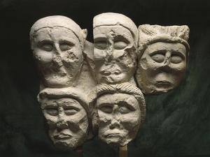 Limestone Cut Off Heads, from Oppidum at Entremont