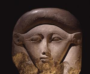 Limestone Head of the Goddess Hathor