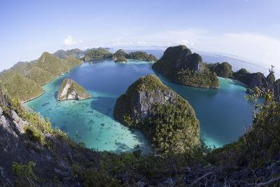 Limestone Islands Surround a Lagoon in a Remote Part of Raja Ampat-Stocktrek Images-Photographic Print