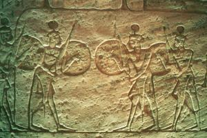 Limestone Relief Showing Hittite Soldiers, Temple of Abu Simbel, Egypt, 14th-13th Century Bc