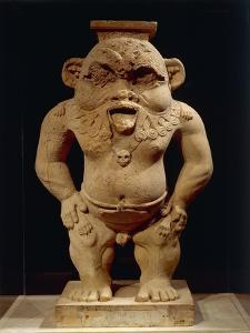 Limestone Statue of God Bes from the Yard of a Chapel Built by Nectanebo I