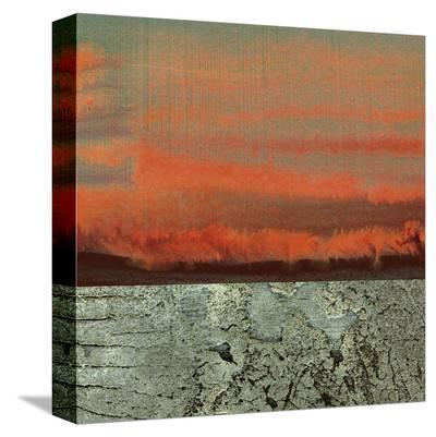 Limestone Sunset-J^ McKenzie-Stretched Canvas Print