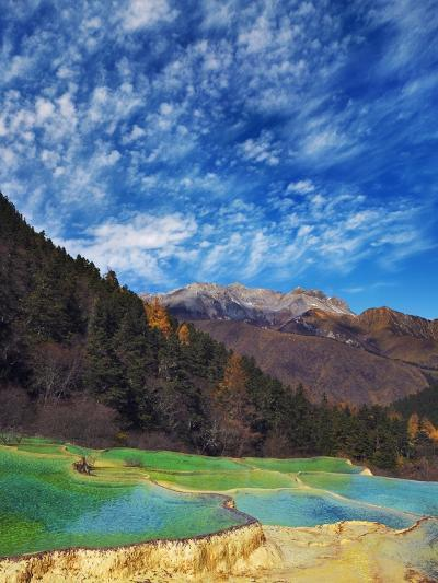 Limestone terraces in Huanglong Scenic Area in China-Frank Krahmer-Photographic Print