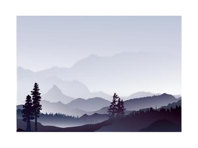 Abstract Landscape of Blue Mountains
