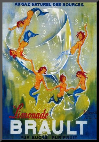 Limonade Brault Vintage Poster - Europe-Lantern Press-Mounted Print