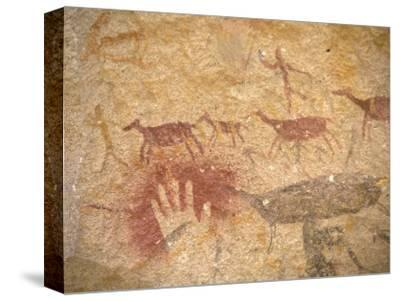 Ancient Paintings in Cave of the Hands, Santa Cruz Province, Patagonia, Argentina