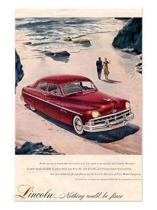 Lincoln 1950 - Beach Ad