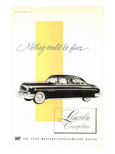 Lincoln 1951 Cosmopolitan--Art Print