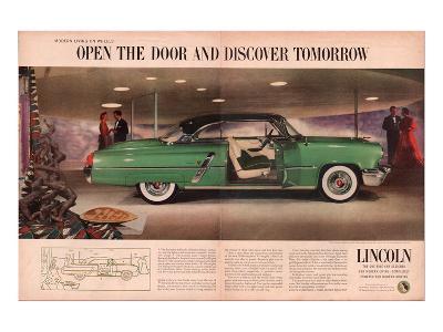 Lincoln 1953 Discover Tomorrow--Art Print