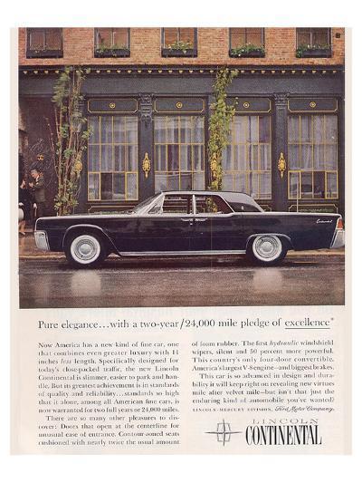 Lincoln 1961 Advanced Design--Art Print