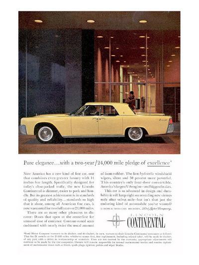 Lincoln 1961 Pure Elegance--Art Print