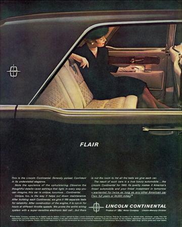 Lincoln 1962 Continental-Flair