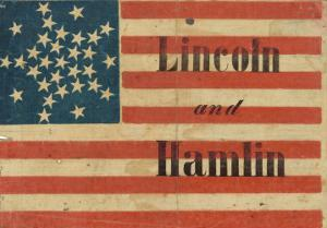 Lincoln and Hamlin Campaign Flag