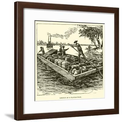 Lincoln as a Flatboatman--Framed Giclee Print