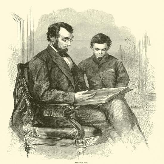 Lincoln at Home, April 1865--Giclee Print