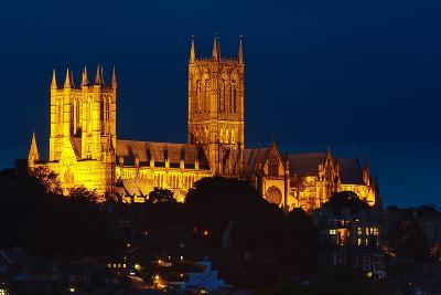 Lincoln Cathedral at Night-Stocksolutions-Photographic Print