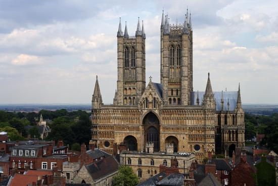 Lincoln Cathedral, Consecrated in 1092, English Gothic Style, Lincoln, Lincolnshire, United Kingdom--Photographic Print