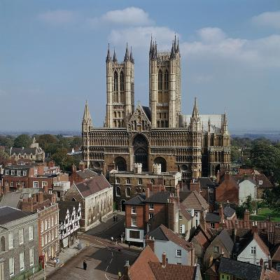 Lincoln Cathedral from the West-CM Dixon-Photographic Print