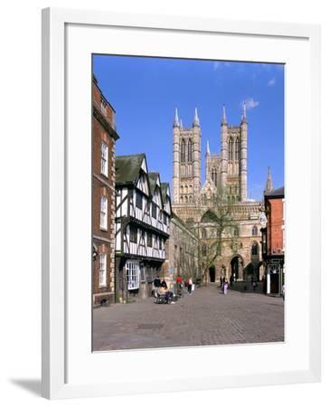 Lincoln Cathedral, Lincolnshire-Peter Thompson-Framed Photographic Print