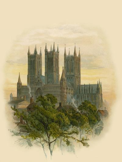 Lincoln Cathedral, South West-Arthur Wilde Parsons-Giclee Print
