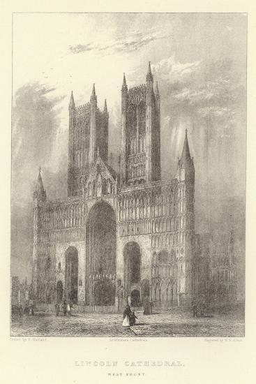 Lincoln Cathedral, West Front--Giclee Print